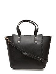 Pebbled tote bag - BLACK