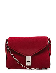 Chain suede bag - BRIGHT PINK