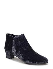 Velvet heel ankle boot - DARK BLUE