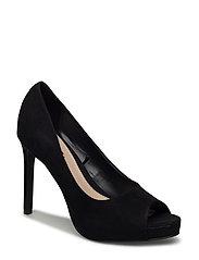 Peep-toe pumps - BLACK