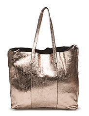 Leather metallic bag - LT-PASTEL PINK