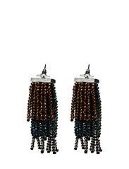 Pendant crystals earrings - GREEN
