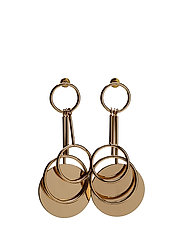 Circular pendant earrings - GOLD