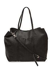 Pebbled shopper bag - BLACK