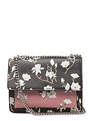 Bicolor floral bag - BLACK