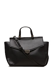 Buckle tote bag - BLACK
