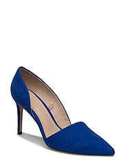Asymmetric stiletto shoes - MEDIUM BLUE