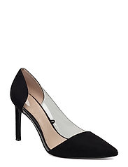 See-through panels stilettos - BLACK