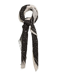 Star print scarf - BLACK