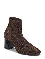 Glitter sock boots - RUST - COPPER