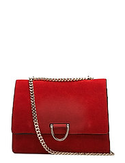 Chain leather bag - RED