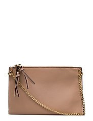 Pebbled cross-body bag - LT-PASTEL PINK
