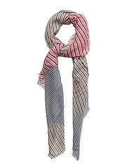 Stripes lightweight scarf - LT-PASTEL PINK