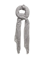 Frayed edge scarf - GREY