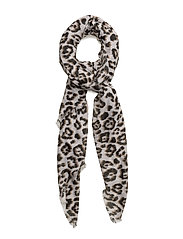 Leopard print scarf - LIGHT BEIGE
