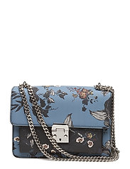 Pebbled chain bag - MEDIUM BLUE