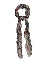 Floral print scarf - LIGHT BEIGE