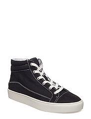 Decorative seam sneakers - BLACK