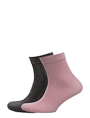 Metallic ankle socks pack - PINK