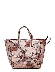 Printed saffiano-effect bag - LT-PASTEL PINK