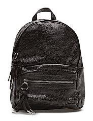 Metallic vinyl backpack - BLACK