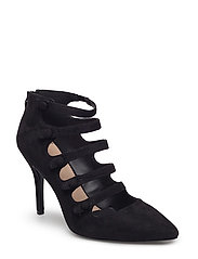 Heel buttoned shoes - BLACK