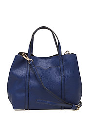 Pebbled cross-body bag - MEDIUM BLUE