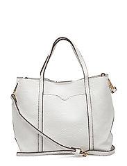 Pebbled cross-body bag - WHITE