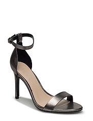 Metallic ankle-cuff sandals - SILVER
