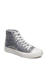 Metallic sequins sneakers - SILVER