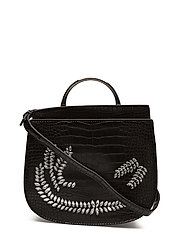 Beaded cross-body bag - BLACK