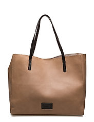 Pebbled shopper bag - LIGHT BEIGE