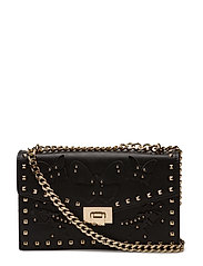 Studded chain bag - BLACK