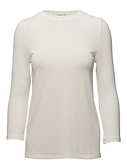 Textured flowy t-shirt - NATURAL WHITE