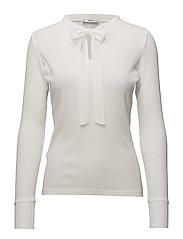 Bow ribbed t-shirt - NATURAL WHITE