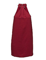 Halter neck dress - MEDIUM RED