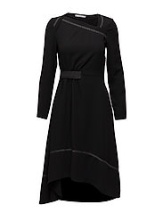 Contrast seam dress - BLACK
