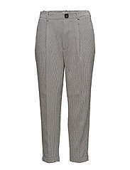 Houndstooth trousers - BLACK