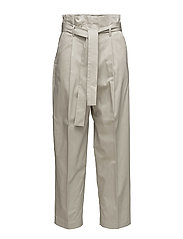 Pleat detail trousers - LT PASTEL BROWN