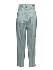 Pleat detail trousers - LT-PASTEL BLUE