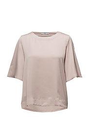 Contrasting design T-shirt - LT-PASTEL PINK