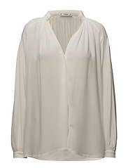 Ruched detail blouse - WHITE