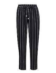 Striped trousers - NAVY