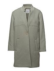 Straight pocketed coat - TURQUOISE - AQUA