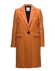 Structured wool coat - ORANGE