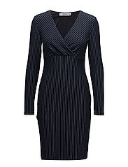 Striped dress - NAVY