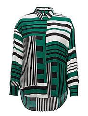 Mixed print shirt - GREEN