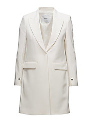Masculine structured coat - WHITE