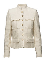 Buttoned texture jacket - LIGHT BEIGE