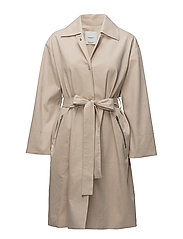 Zip pocket trench - LIGHT BEIGE